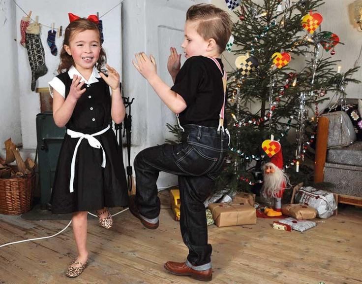 dancing rockabilly kids