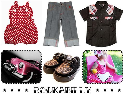 Rockabilly childrens clothing
