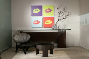 Kiss Portraits Featuring MAC Viva Glam DNA 11 MOMA Art