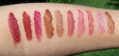 Avon Glazewear Lip Gloss Swatches