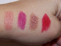 MAC Wonder Woman Lipstick Swatches