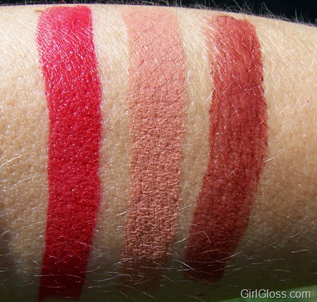 MAC Posh Paradise Collection Lipstick Swatches