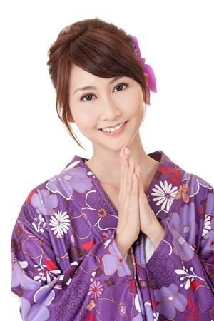 Japaneses woman kimono