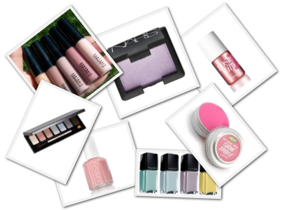 Pastel Cosmetics for Spring