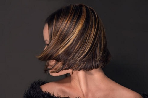 Darker hair look quite dramatic with highlights and adding highlight ...