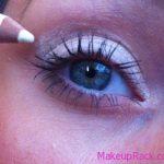 White Eyeliner As Eye Shadow Base