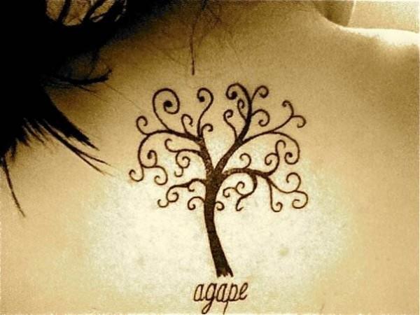 agape tattoos girl gloss. Black Bedroom Furniture Sets. Home Design Ideas