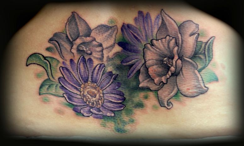 daffodil tattoos girl gloss. Black Bedroom Furniture Sets. Home Design Ideas