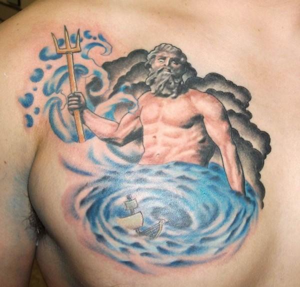 Poseidon Tattoo Sketch