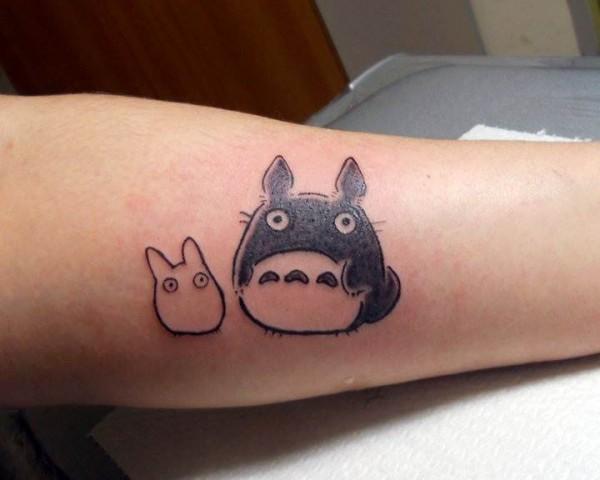 Totoro Tattoos Girl Gloss