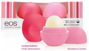 eos lip balm duo pack for breast cancer awareness