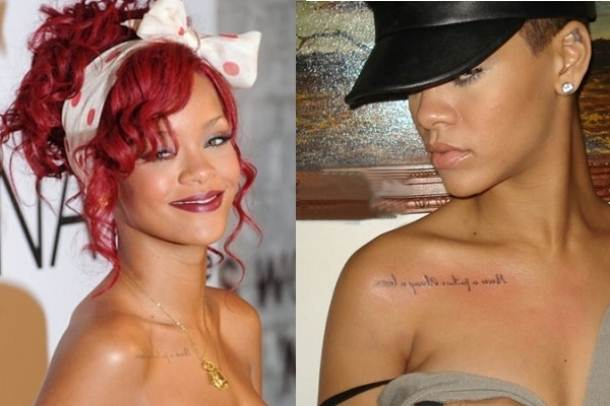 rihanna's tattoos on her chest