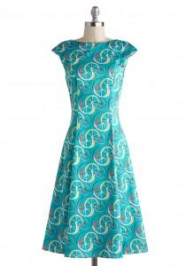 blue retros dresses
