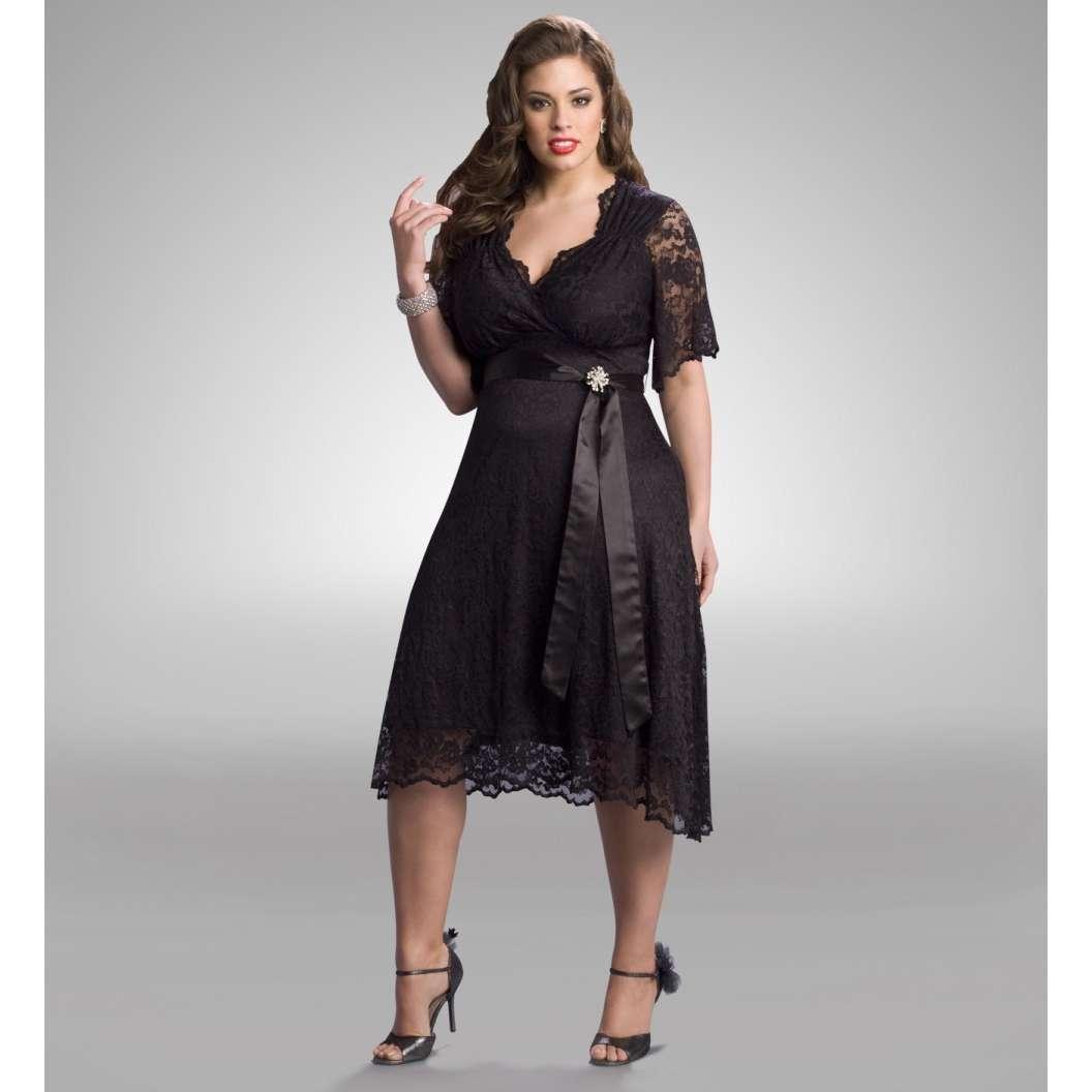 Lane bryant long black dress