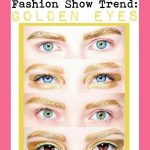 Dior Spring 2014 Fashion Show Gold Eyebrows