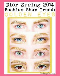 Dior Spring 2014 Fashion Show Gold Eyebrows