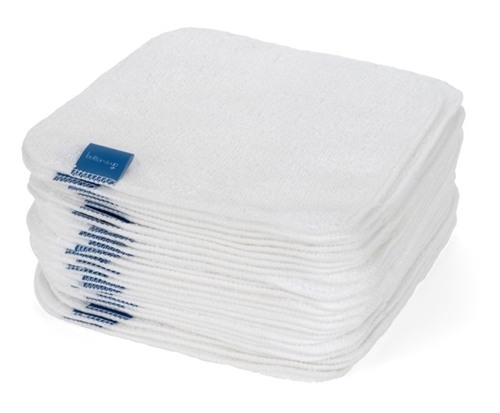 white cloth baby wipes