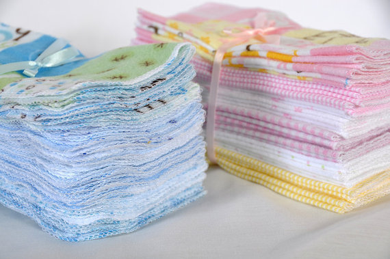 pastel cloth baby wipes