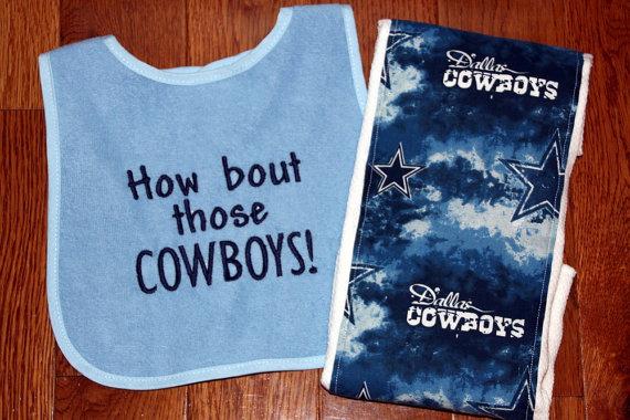 dallas cowboy baby bibs