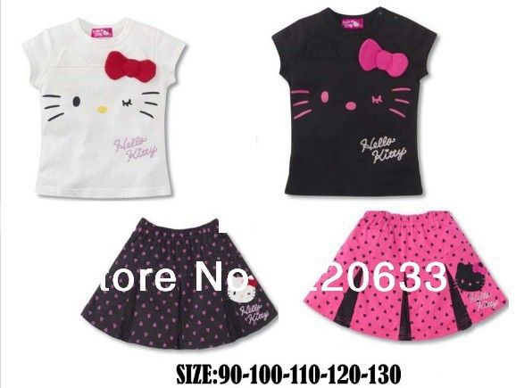 Hello Kitty Girls T-shirt and skirt