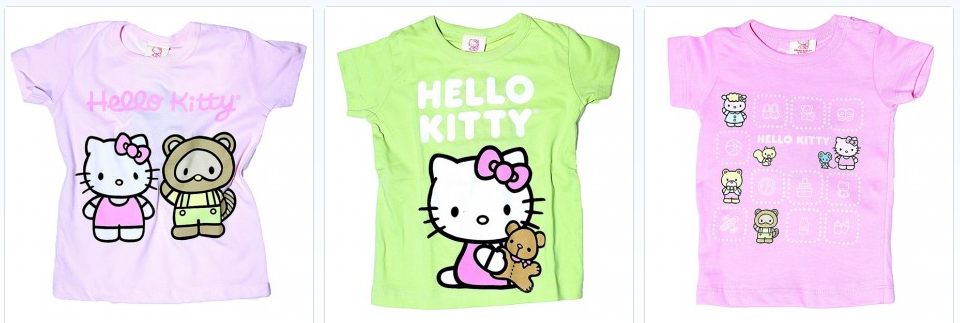 Hello Kitty children's T shirts