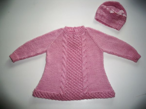 Irish knit sweater for babies