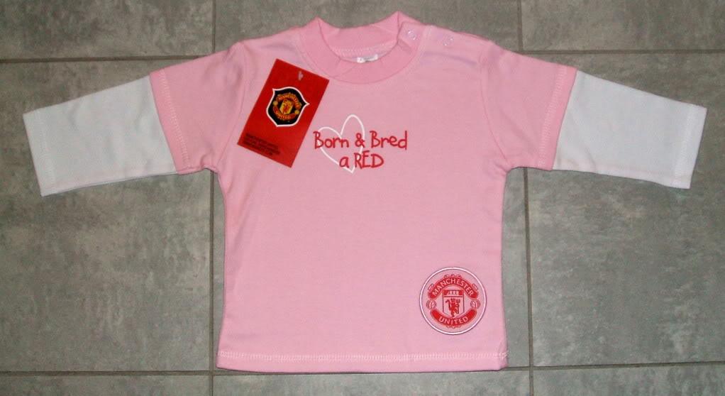 Manchester United baby girl shirt
