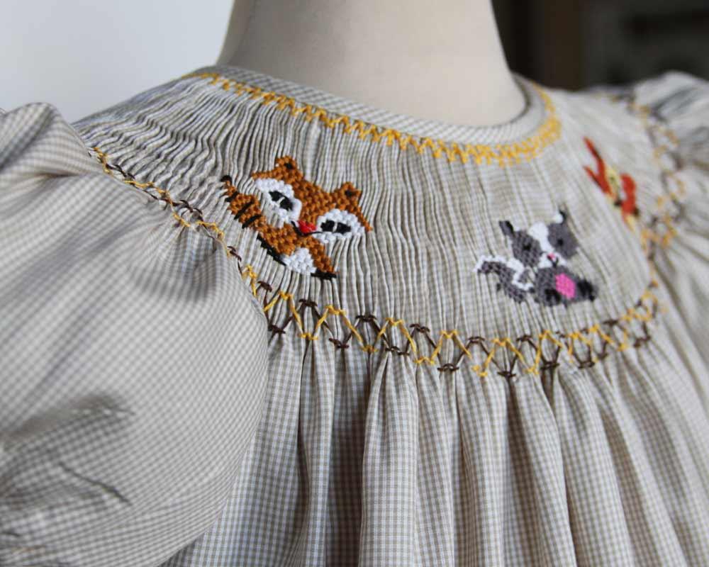 Children S Smocked Clothing Girl Gloss