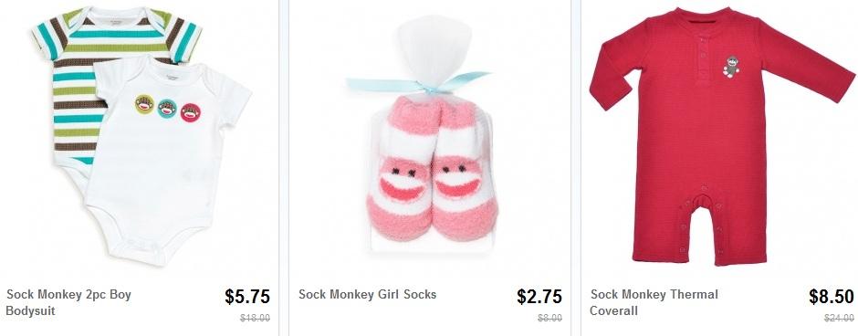 sock monkey baby clothes