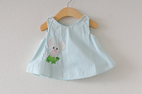 cute vintage baby dress with mouse