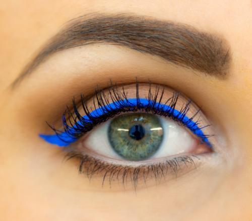 Spring 2014 Trend Cobalt Blue Eyeliner Girl Gloss