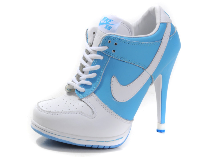 Blue Wedge Tennis Shoes