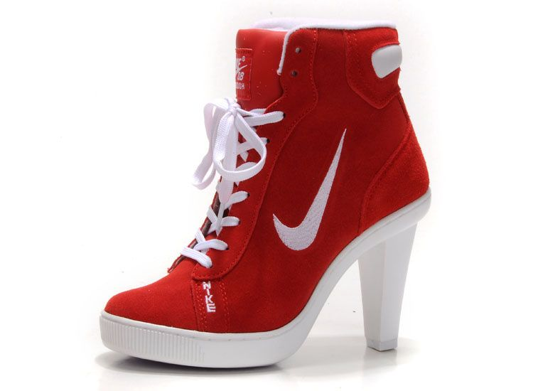 Creative Nike High Heel Sneaker Boot Shoes Women QK167NG Nike Sport Heeled