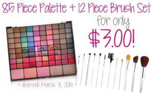 Palette & Brush Set for Only $3!