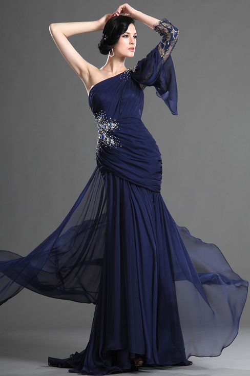 Dark Navy Blue Wedding Dress