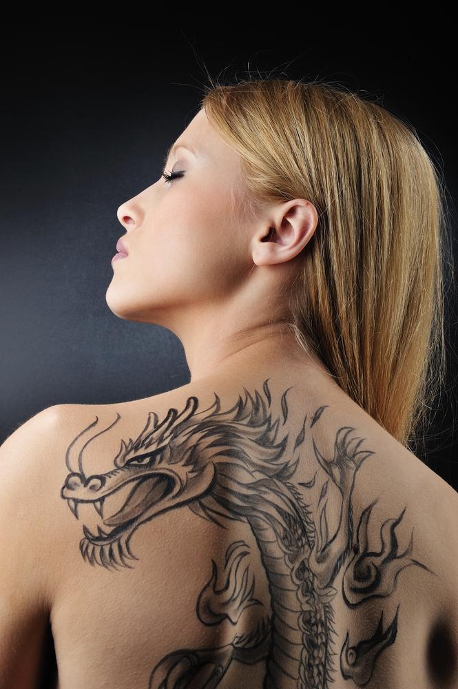 dragon womens tattoo
