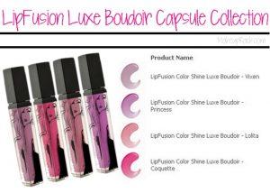 LipFusion Luxe Boudoir Capsule Collection