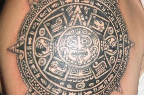 80 Mayan Tattoos For Men - Masculine Design Ideas |Mayan Tattoo Color