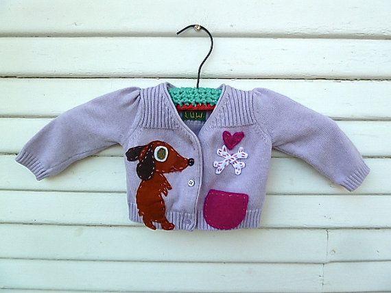 handmade dachshund baby sweater