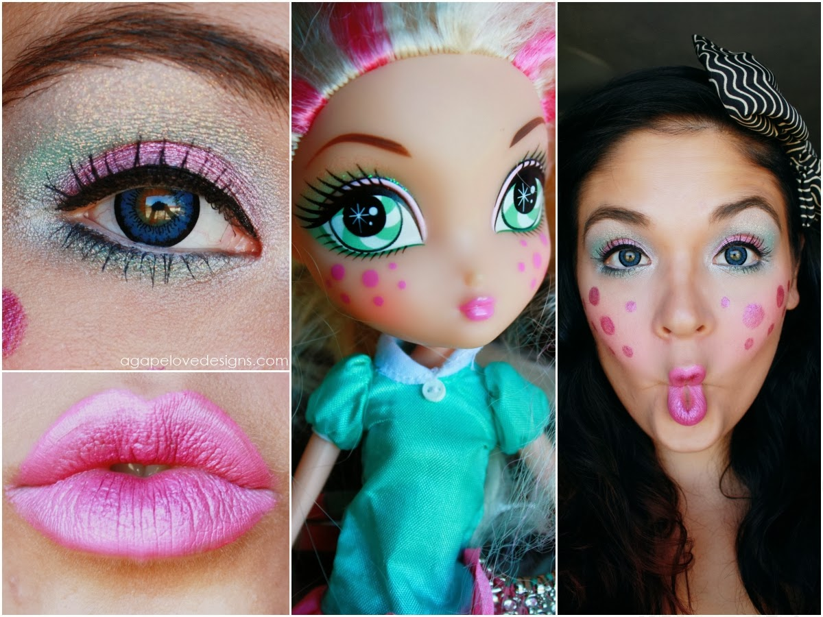 Cool doll inspired makeup