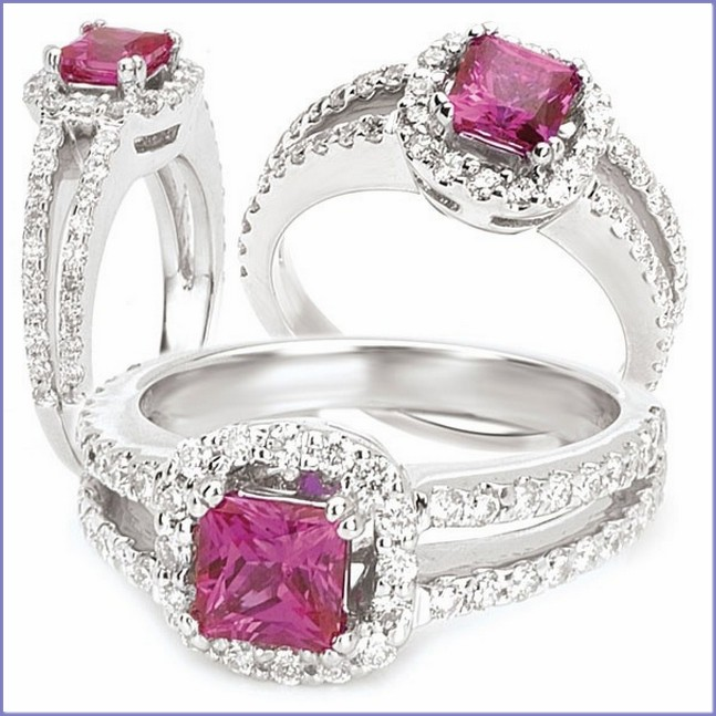 Unique Princess Cut wedding ring