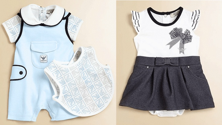 Armani Baby Clothes Girl Gloss