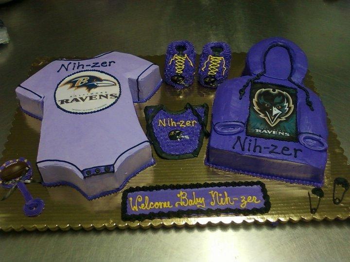 baltimore ravens baby cake