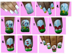 Nail Art Tutorial Step by Step of Our Nail Art Contest Winner