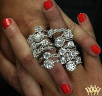custom diamond engagement rings