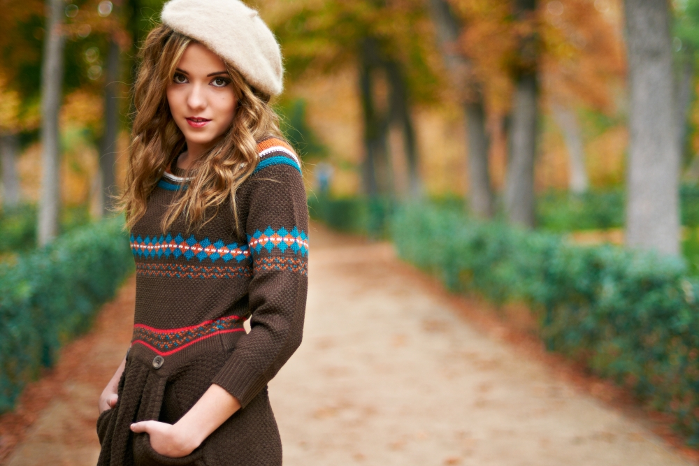 winter sweater and hat