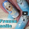 Disney Inspired Frozen Nail Art Tutorial