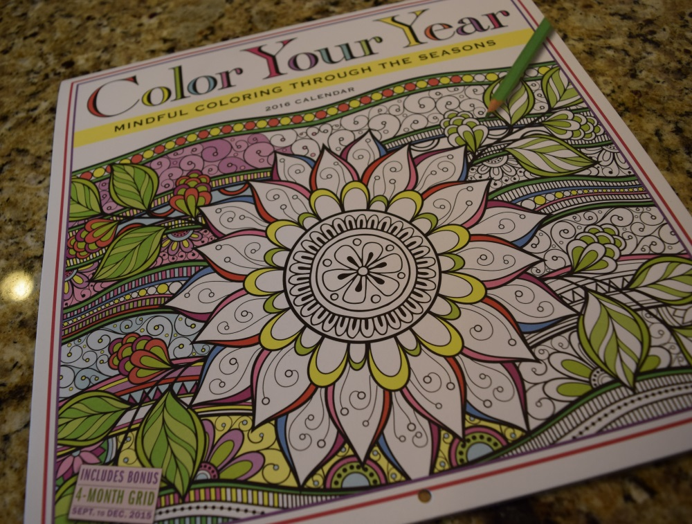 Color Your Year Coloring Calendar