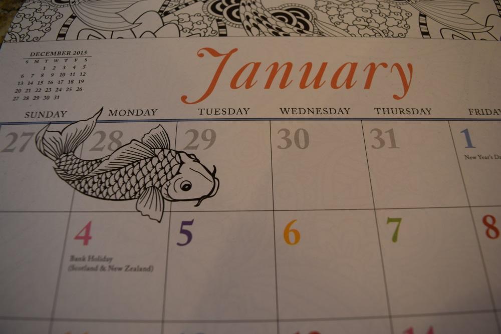 adult coloring calendar 2016
