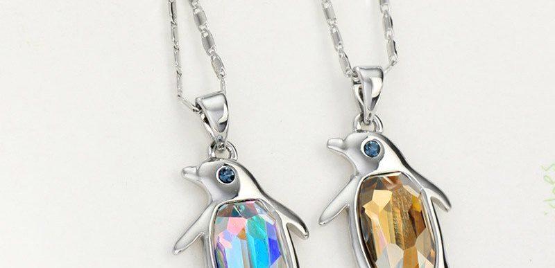 Australian Crystal Penguin Necklace